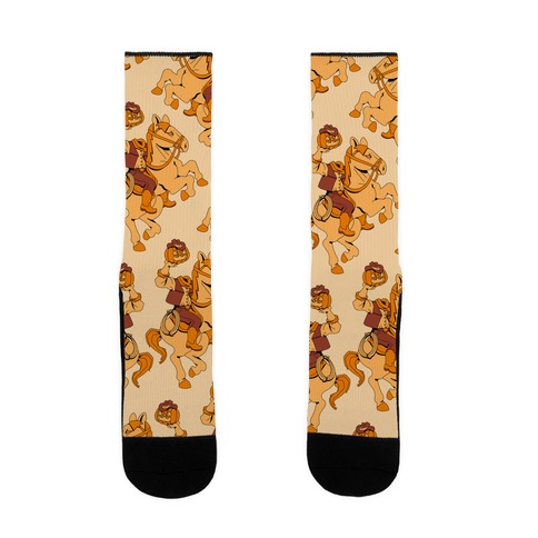 Headless Cowboy Pattern Sock
