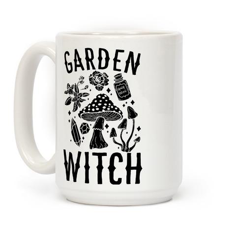 Garden Witch BLACK AND WHITE Coffee Mug