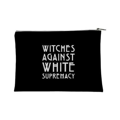 Witches Against White Supremacy White Print Accessory Bag