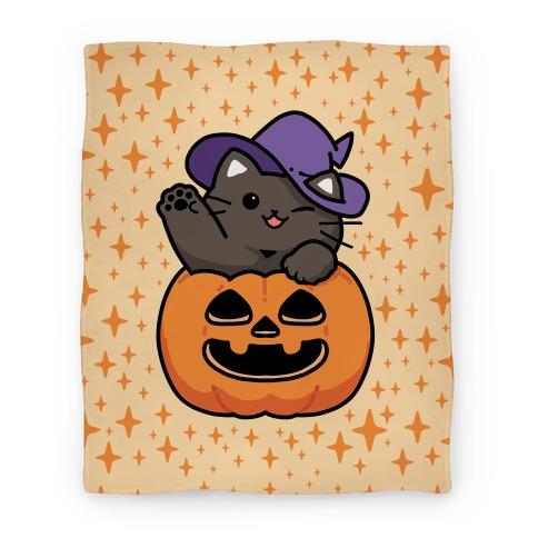 Cute Halloween Cat Blanket