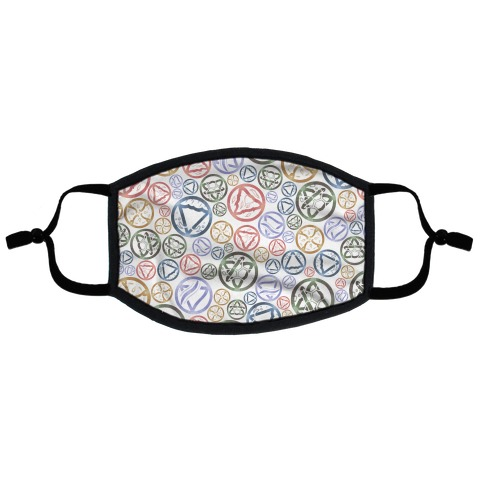 Witch's Elements Pattern Flat Face Mask