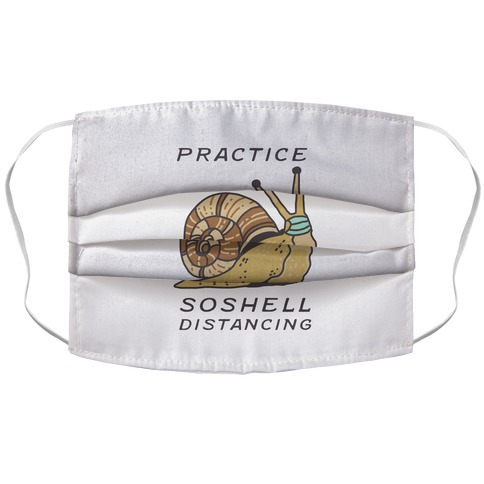 Practice SoShell Distancing Accordion Face Mask