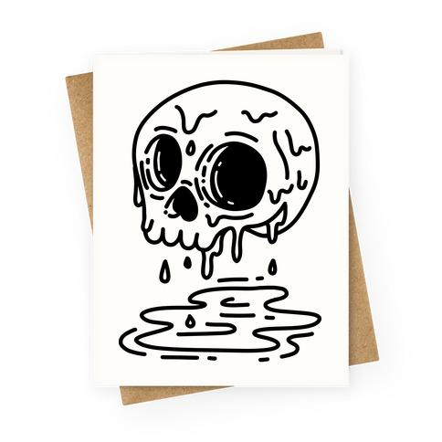 Melting Skull Greeting Card