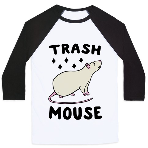 Trash Mouse Baseball Tee