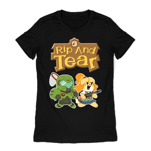 Rip And Tear Womens T-Shirt