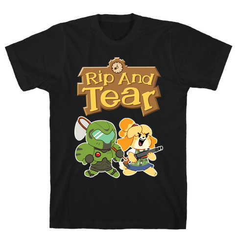 Rip And Tear Mens/Unisex T-Shirt