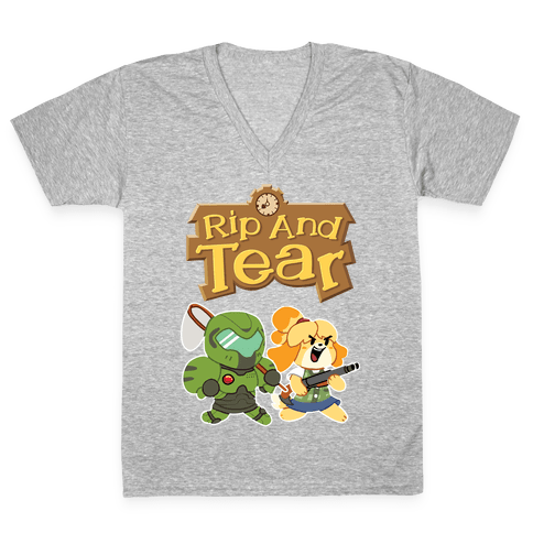 Rip And Tear V-Neck Tee Shirt