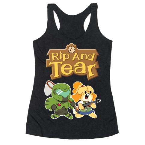 Rip And Tear Racerback Tank Top