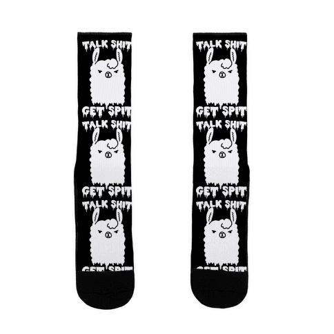 Talk Shit Get Spit Llama Sock