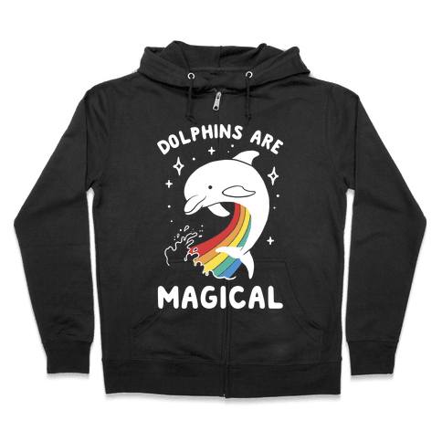 Dolphins Are Magical Zip Hoodie