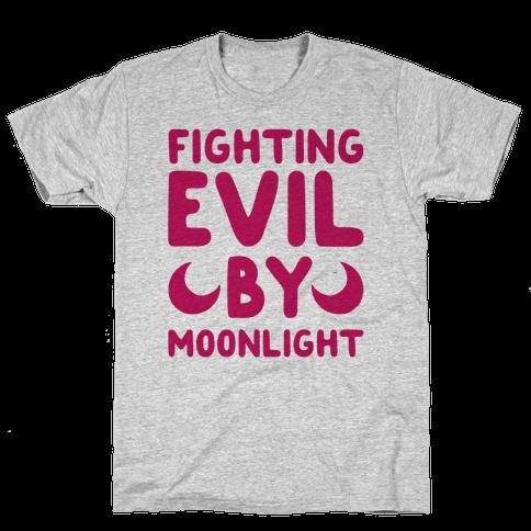 Fighting Evil By Moonlight Mens T-Shirt