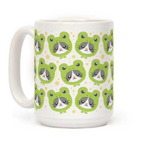 Frog Hat Cat Coffee Mug