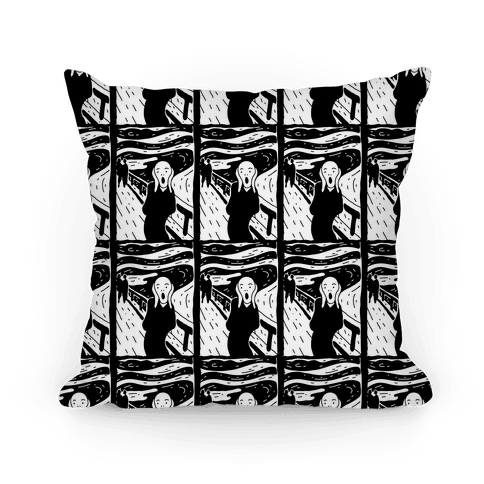 The Scream Pop Art Pattern Pillow