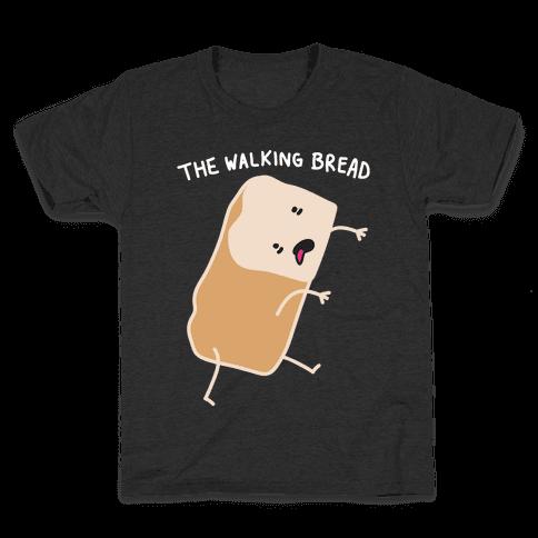 The Walking Bread Parody Kids T-Shirt