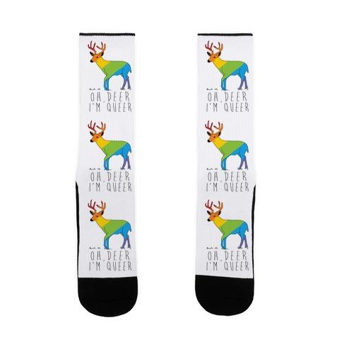 Oh Deer I'm Queer Sock