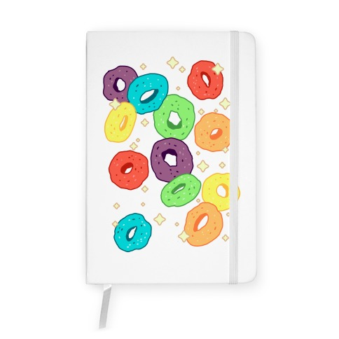 Spacey Fruity Cereal Notebook