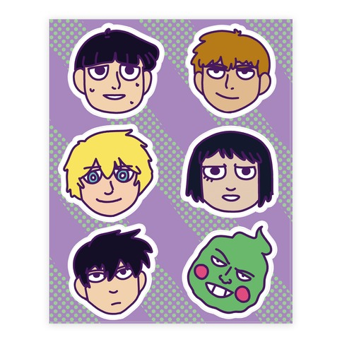 Mob Psycho 100 Pattern Sticker/Decal Sheet