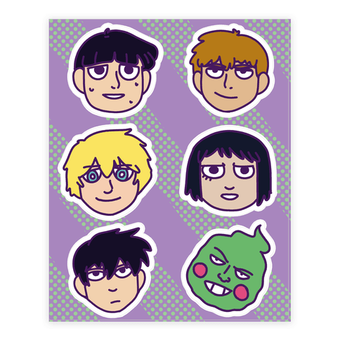 Mob Psycho 100 Stickers Sticker and Decal Sheet