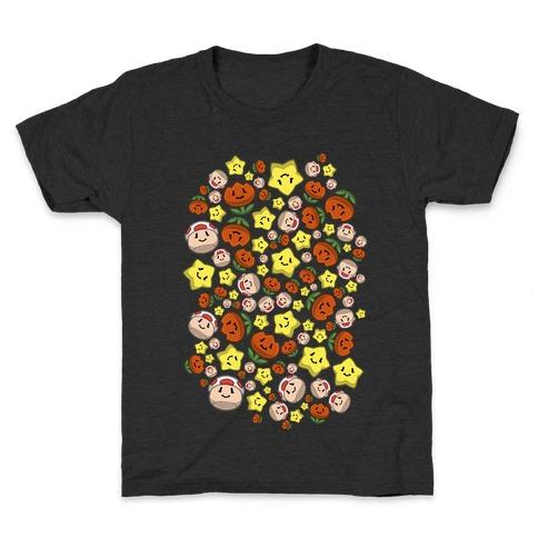 Stuffed Powerups Pattern Kids T-Shirt