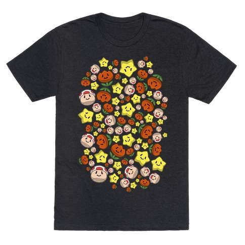 Stuffed Powerups Pattern T-Shirt