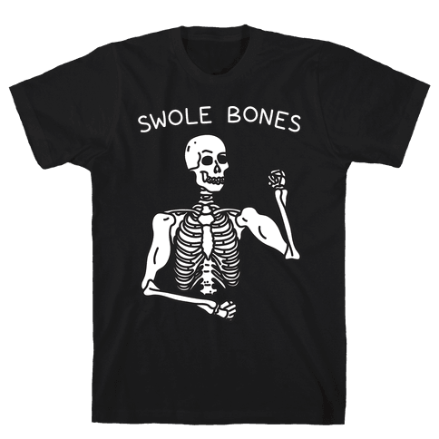 Swole Bones Skeleton Mens T-Shirt