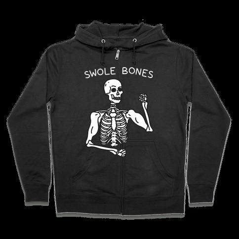 Swole Bones Skeleton Zip Hoodie
