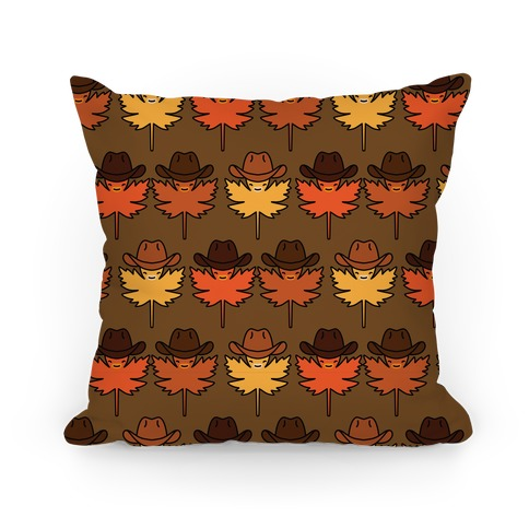 YeeHaw Fall Leaves Pattern Pillow