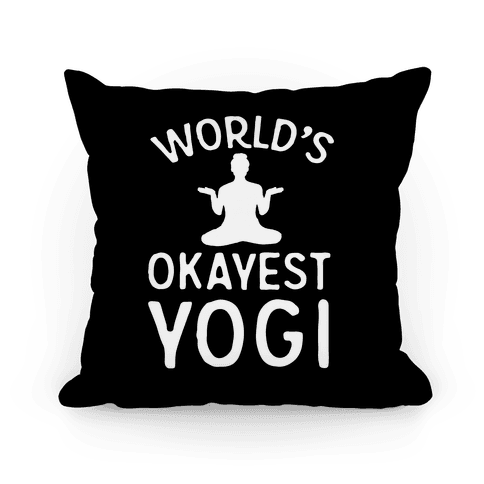 World's Okayest Yogi Pillow