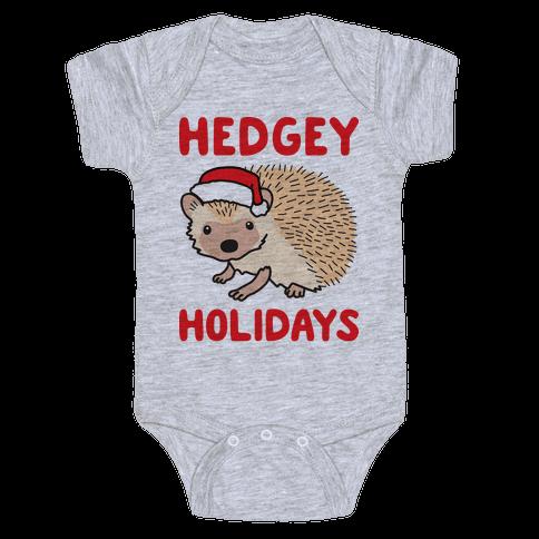 Hedgey Holidays Baby Onesy