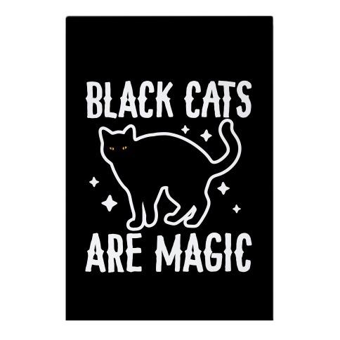 Black Cats Are Magic Garden Flag