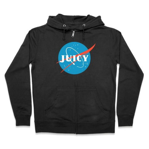 JUICY NASA Parody Zip Hoodie