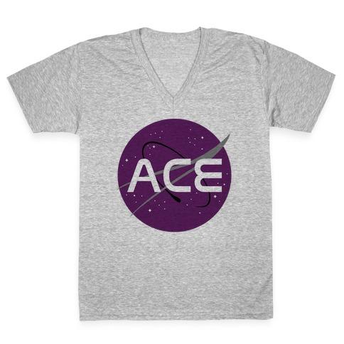 Ace Nasa V-Neck Tee Shirt