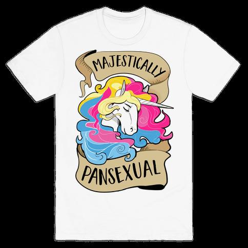 Majestcially Pansexual Mens T-Shirt