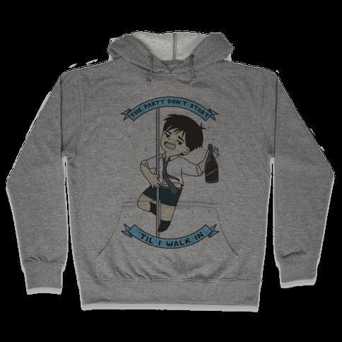The Party Don't Start Yuri Hooded Sweatshirt