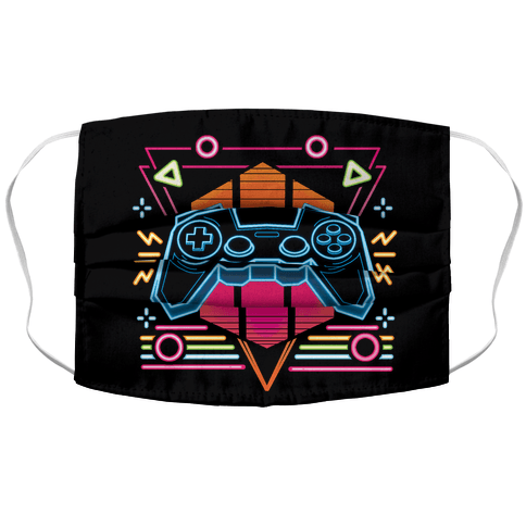 Synthwave Gamer Accordion Face Mask