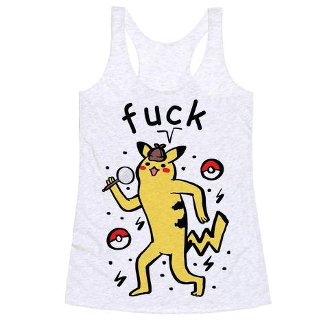 F*** Pikachu Parody Racerback Tank Top