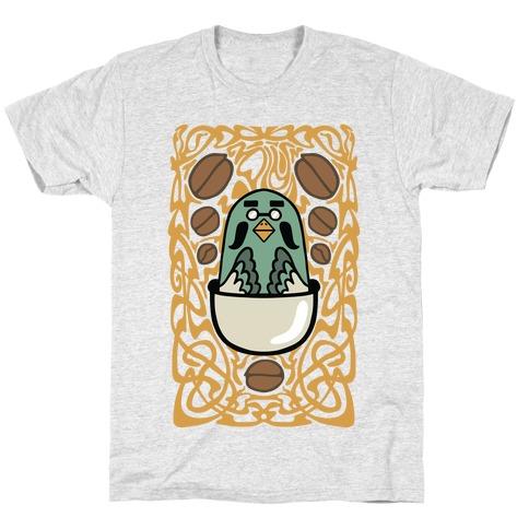 Art Nouveaux Coffee Pigeon T-Shirt