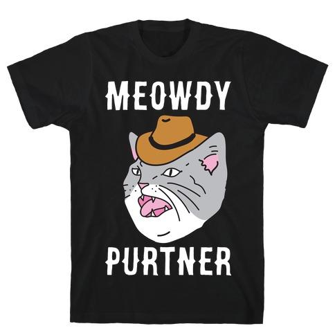 Meowdy Purtner Cowboy Cat T-Shirt