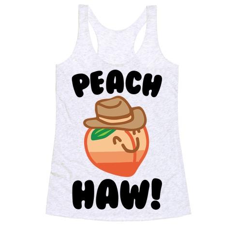 Peach Haw  Racerback Tank Top