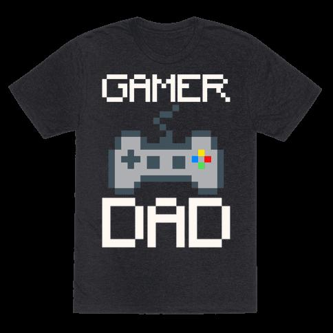Gamer Dad White Print Mens/Unisex T-Shirt
