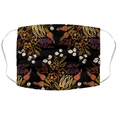 Boho Floral Bouquet Face Mask Cover