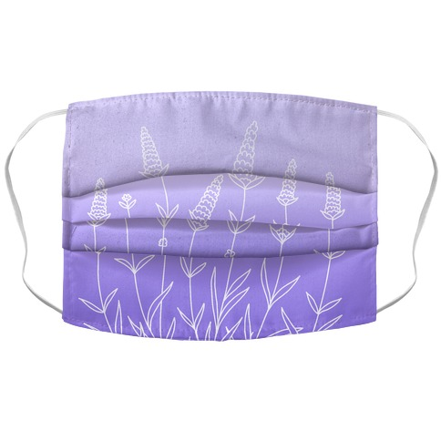 Lavender Sprigs Gradient Face Mask Cover