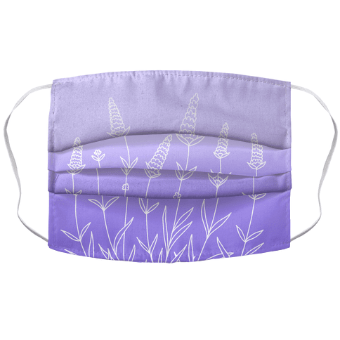 Lavender Sprigs Gradient Face Mask Cover