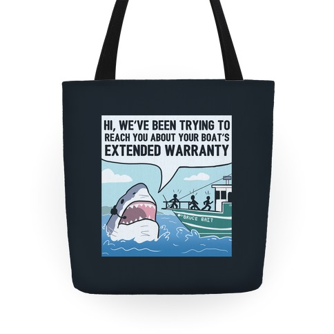 Your Boat's Extended Warranty Shark Tote
