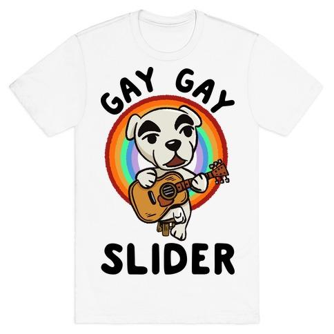 Gay gay slider lgbtq KK Slider T-Shirt