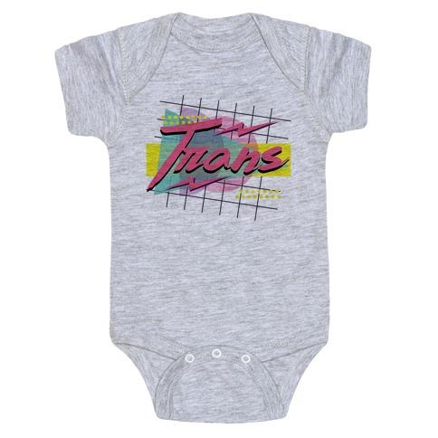 Trans 80s Retro Baby Onesy