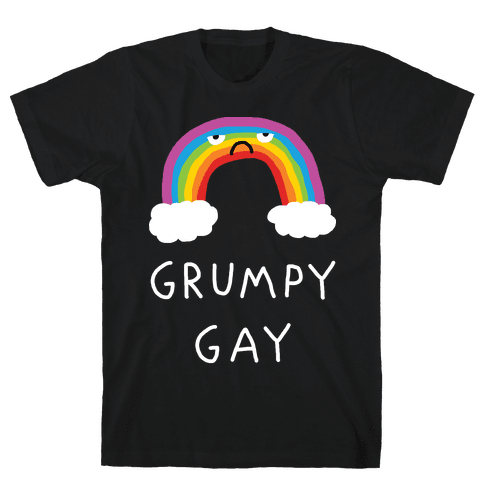 Grumpy Gay Mens T-Shirt