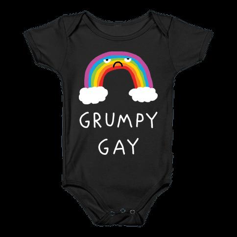 Grumpy Gay Baby Onesy