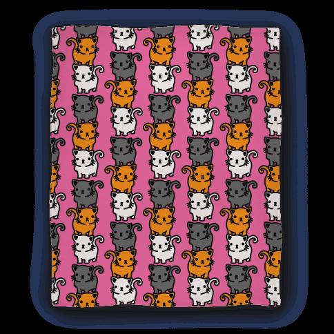 Kitty Stack Pattern Blanket