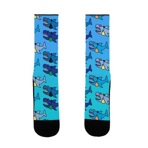 Sexy Shark Pattern Sock